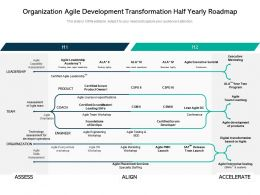 Organization Agile Development Transformation Half Yearly Roadmap