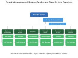 Organization Assessment Business Development Fiscal Services Operations