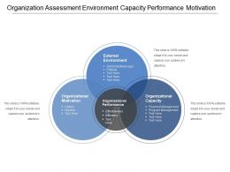 Organization Assessment Environment Capacity Performance Motivation
