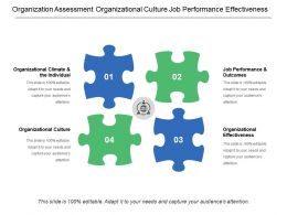 Organization Assessment Organizational Culture Job Performance Effectiveness