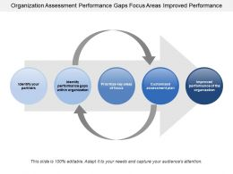 Organization Assessment Performance Gaps Focus Areas Improved Performance
