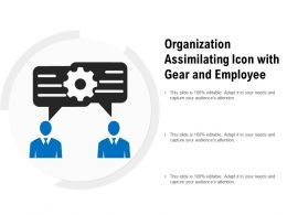 Organization Assimilating Icon With Gear And Employee