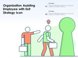 Organization Assisting Employee With Exit Strategy Icon