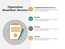 Organization Breakdown Structure Ppt Powerpoint Presentation Gallery Background Images Cpb