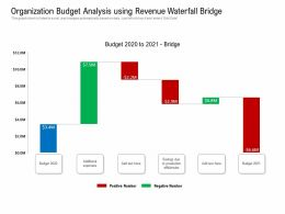Organization Budget Analysis Using Revenue Waterfall Bridge