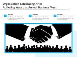 Organization Celebrating After Achieving Award At Annual Business Meet