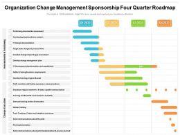 Organization Change Management Sponsorship Four Quarter Roadmap