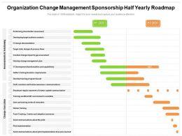 Organization Change Management Sponsorship Half Yearly Roadmap