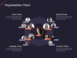 Organization Chart Creative Team Ppt Powerpoint Presentation Layouts Slideshow