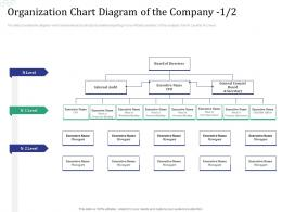 Organization Chart Diagram Of The Company Audit Investment Pitch Raise Funds Financial Market Ppt Grid