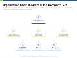 Organization Chart Diagram Of The Company Corporation Pitch Deck Raise Funding Post IPO Market Ppt Icon