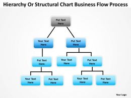 Organization Chart Template Structural Business Flow Process Powerpoint Templates 0515