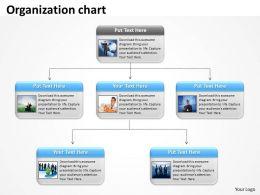organizational chart for business team flat powerpoint design, Modern powerpoint