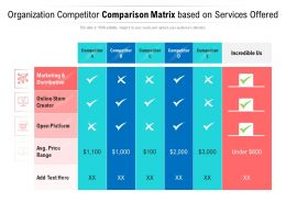 Organization Competitor Comparison Matrix Based On Services Offered