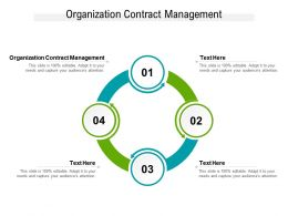 Organization Contract Management Ppt Powerpoint Presentation Slides Maker Cpb