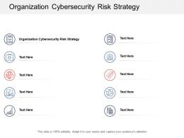 Organization Cybersecurity Risk Strategy Ppt Powerpoint Presentation Ideas Master Slide Cpb