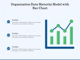 Organization Data Maturity Model With Bar Chart