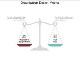 Organization Design Metrics Ppt Powerpoint Presentation Ideas Show Cpb