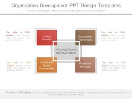 Organization Development Ppt Design Templates