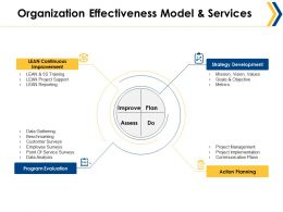 Organization Effectiveness Model And Services Ppt Summary Graphics Download