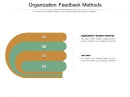Organization Feedback Methods Ppt Powerpoint Presentation Slides Background Designs Cpb