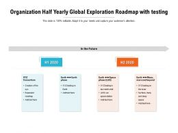 Organization Half Yearly Global Exploration Roadmap With Testing