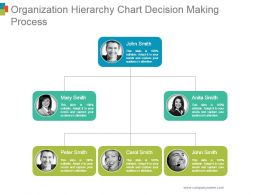 Organization Hierarchy Chart Decision Making Process Ppt Ideas