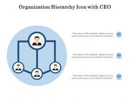 Organization Hierarchy Icon With CEO
