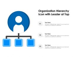 Organization Hierarchy Icon With Leader At Top