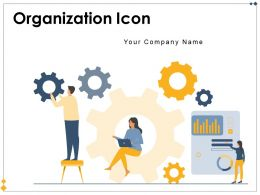 Organization Icon Business Management Employees Leadership Strategy Wheel Operation