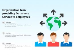 Organization Icon Providing Outsource Service To Employees