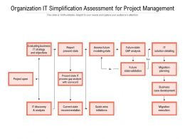 Organization IT Simplification Assessment For Project Management