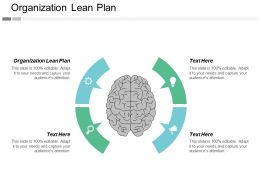 Organization Lean Plan Ppt Powerpoint Presentation Gallery Layouts Cpb