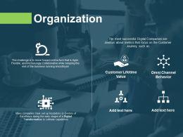 Organization Lifetime Value Ppt Powerpoint Presentation Show