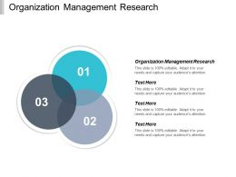 Organization Management Research Ppt Powerpoint Presentation Icon Guidelines Cpb