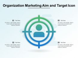 Organization Marketing Aim And Target Icon