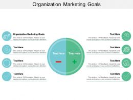 Organization Marketing Goals Ppt Powerpoint Presentation Inspiration Icons Cpb