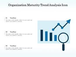 Organization Maturity Trend Analysis Icon