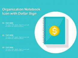 Organization Notebook Icon With Dollar Sign