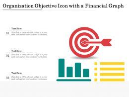 Organization Objective Icon With A Financial Graph