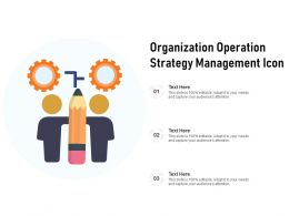 Organization Operation Strategy Management Icon