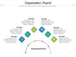 Organization Payroll Ppt Powerpoint Presentation Infographics Skills Cpb