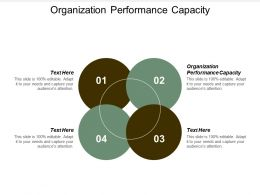 Organization Performance Capacity Ppt Powerpoint Presentation Visual Aids Gallery Cpb