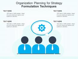 Organization Planning For Strategy Formulation Techniques