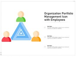 Organization Portfolio Management Icon With Employees