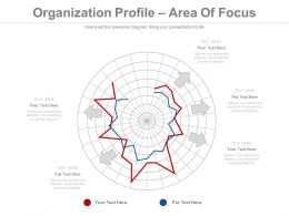 Organization Profile Area Of Focus Ppt Slides