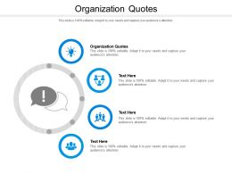 Organization Quotes Ppt Powerpoint Presentation Inspiration Structure Cpb