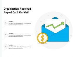 Organization Received Report Card Via Mail