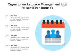 Organization Resource Management Icon For Better Performance