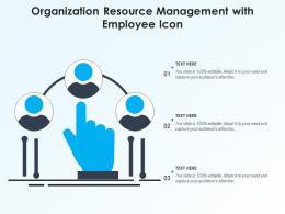 Organization Resource Management With Employee Icon